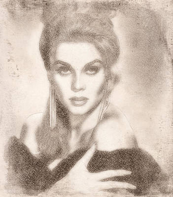 Television Painting - Ann Margaret by Esoterica Art Agency