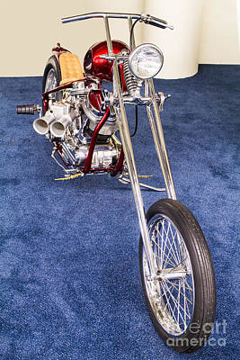 Photograph - Ann Margrets Panhead Chopper by Steven Parker