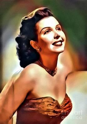 Classic Singer Digital Art - Ann Miller, Vintage Actress. Digital Art By Mb by Mary Bassett