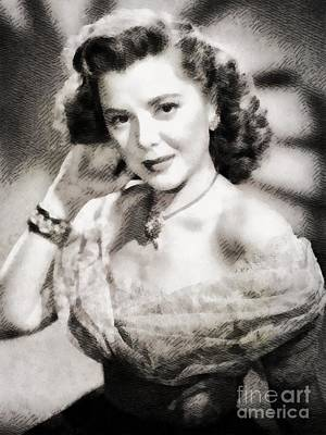 Ann Rutherford, Vintage Actress By John Springfield Art Print by John Springfield
