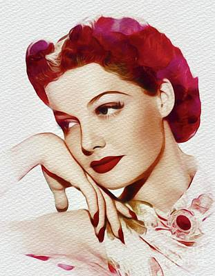 Painting - Ann Sheridan, Vintage Movie Star by John Springfield