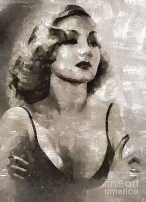 Ann Sothern, Actress Art Print by Mary Bassett
