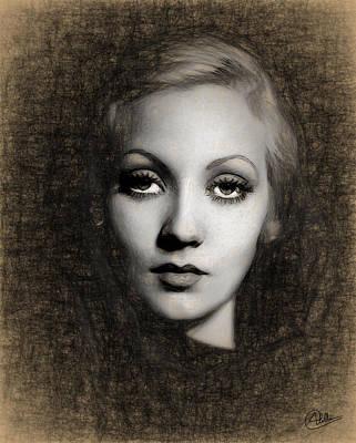 Portraiture Digital Art - Ann Sothern Portrait by Quim Abella