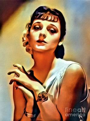 Ann Souther, Vintage Actress. Digital Art By Mb Art Print by Mary Bassett