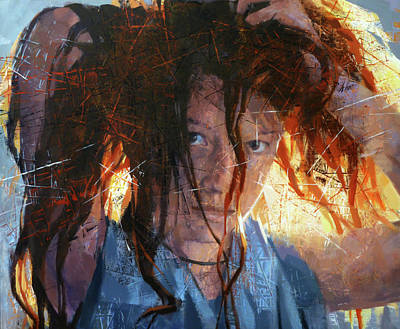 Atkinsky Painting - Anna by Alexander Ilichev