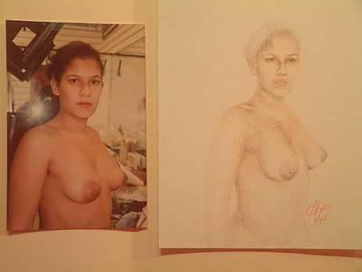 Anna Art Print by Benito Alonso