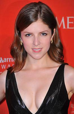 Anna Kendrick At Arrivals For Time 100 Art Print