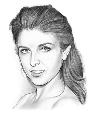 New York City Drawing - Anna Kendrick by Greg Joens