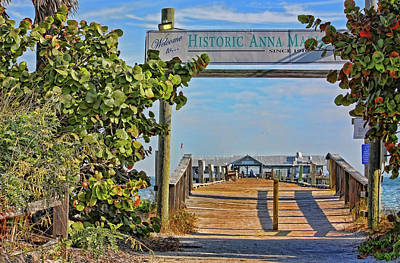 Photograph - Anna Maria City Pier Landmark by HH Photography of Florida