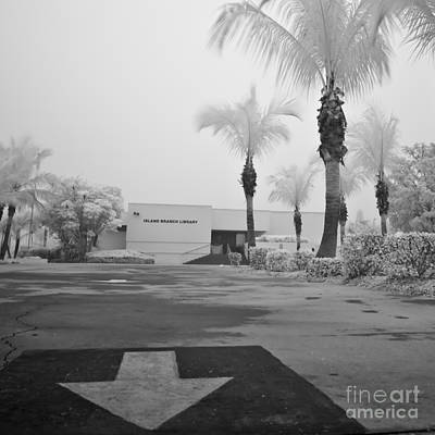 Anna Maria Island Branch Library In Fog Infrared 50 Art Print by Rolf Bertram