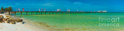 Anna Maria Island Historic City Pier Panorama Art Print