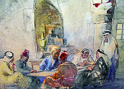 Painting - Anna May Coffee Shop In Jerusalem by Munir Alawi