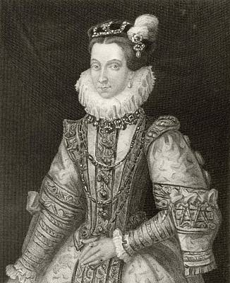 Anna Of Austria, 1549 To 1580. Queen Art Print by Vintage Design Pics