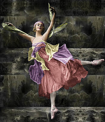 Photograph - Anna Pavlova Dragonfly Colorized by Robert G Kernodle
