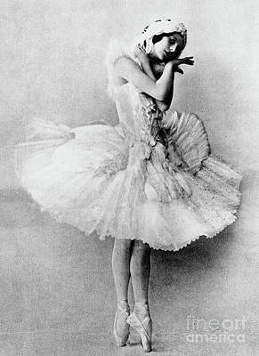 Prima Ballerina Photograph - Anna Pavlova In The Role Of The Dying Swan by Russian School