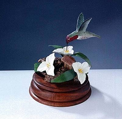Sculpture - Anna' S Humming Bird by Carl Capps