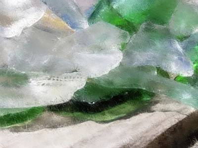 Digital Art - Annabelle's Beach Glass by Aliceann Carlton
