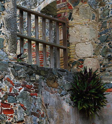 Art Print featuring the photograph Annaberg Ruin Brickwork At U.s. Virgin Islands National Park by Jetson Nguyen