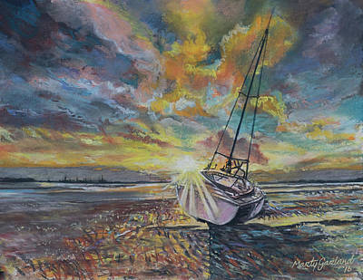 Painting - Annagassan Sunrise by Marty Garland