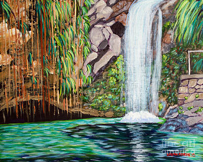 Annandale Waterfall Art Print