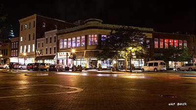 Photograph - Annapolis At Night by Walt Baker