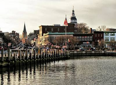 Photograph - Annapolis City Dock by Jennifer Wheatley Wolf