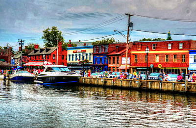 Annapolis City Docks Art Print