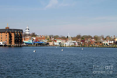 Annapolis City Skyline Art Print