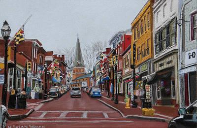 Annapolis Main Street Art Print by Mary Susan Vaughn