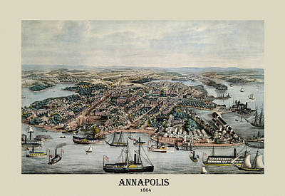 Photograph - Annapolis Maryland 1864 by Andrew Fare