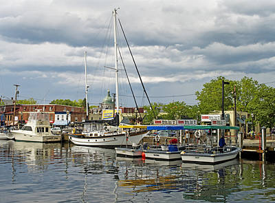 Annapolis Maryland City Dock Ego Alley Art Print by Brendan Reals