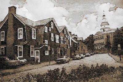 Historic Annapolis Maryland - Fine Art Art Print by Art America Online Gallery