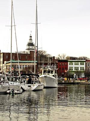 Photograph - Annapolis Maryland Harbor by Jennifer Wheatley Wolf