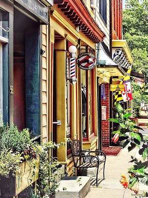 Photograph - Annapolis Md - Barbershop And Reiki Studio by Susan Savad