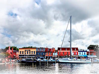 Photograph - Annapolis Md - City Dock by Susan Savad