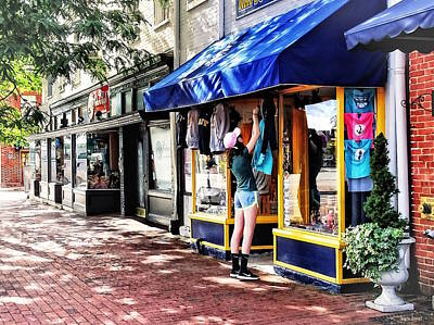 Photograph - Annapolis Md - Opening For Business by Susan Savad