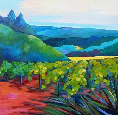 California Vineyard Painting - Annapolis Vineyard by Stephanie  Maclean