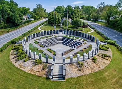 Photograph - Annapolis World War II Memorial  by Mid Atlantic Aerial