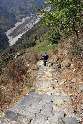 Photograph - Annapurna Base Camp Trail, The Himalayas, Nepal by Aidan Moran