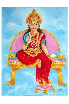 Annapurna Devi Art Print by Kalpana Talpade Ranadive