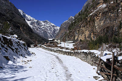 Photograph - Annapurna Mountain Village by Aidan Moran