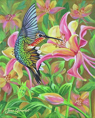 Painting - Anna's Hummingbird 2 by Jane Girardot
