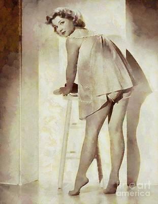 Anne Baxter, Actress And Pinup Art Print