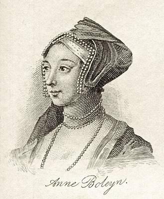 Anne Boleyn Also Spelled Bullen Art Print by Vintage Design Pics