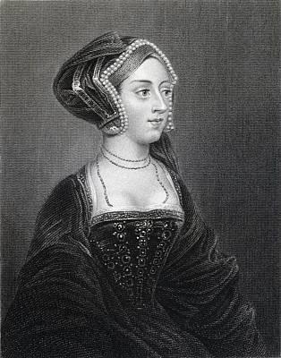 Anne Boleyn, Also Spelled Art Print by Vintage Design Pics