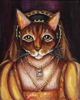 Painting - Anne Boleyn Cat by Tara Fly
