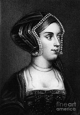 Anne Boleyn, Queen Of England Art Print by Photo Researchers