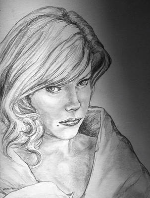 Drawing - Anne Francis by Bryan Bustard