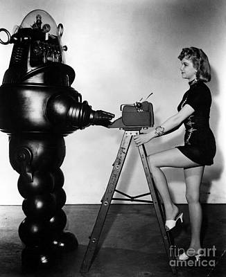 Photograph - Anne Francis  Forbidden Planet by R Muirhead Art