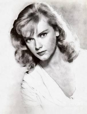 Anne Francis, Vintage Actress Art Print by John Springfield
